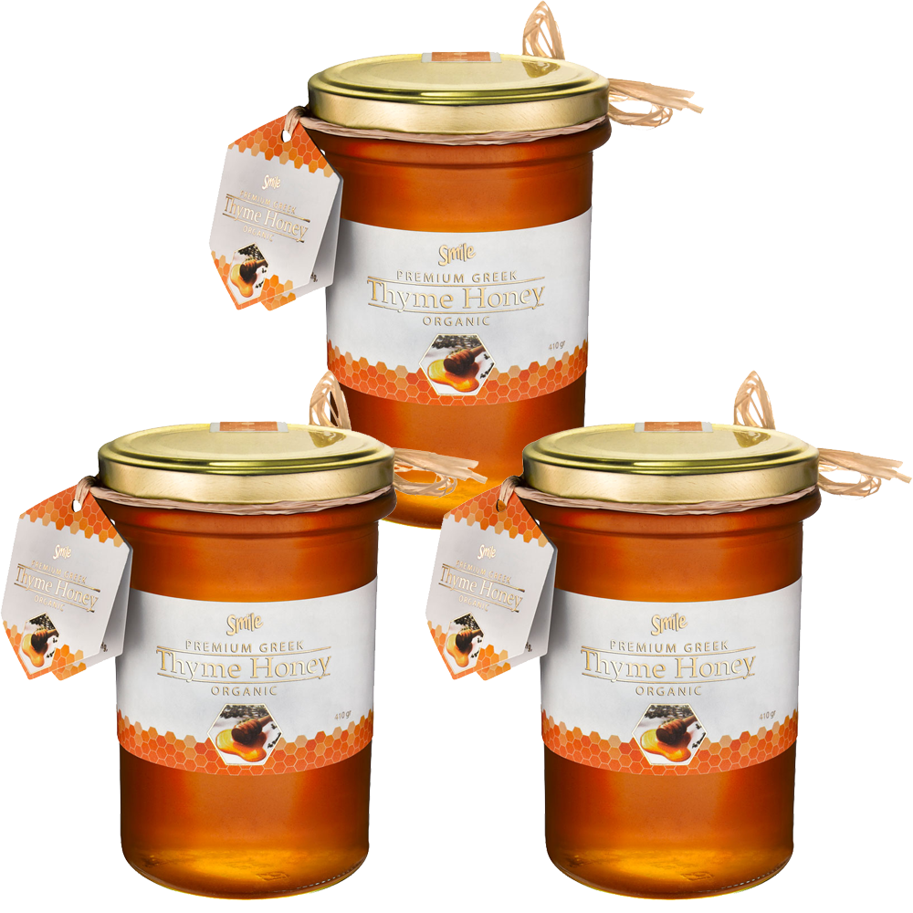 ef9493a4db40 Smile Premium Raw Organic Greek Thyme Honey 3 Pack - NATPROD Natural  Products